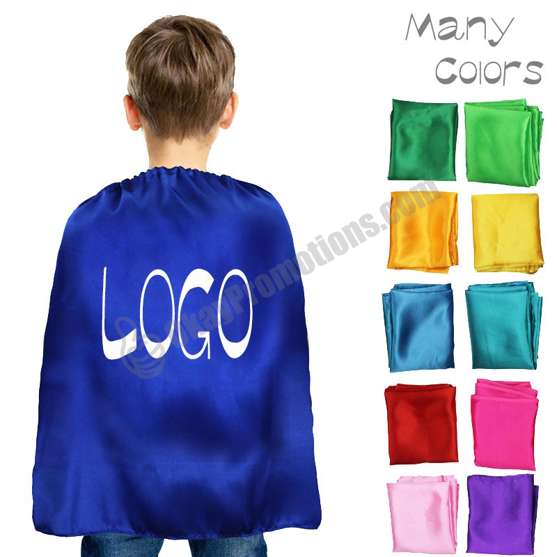 Kids Promotions Party Customized Superhero Capes Cloaks