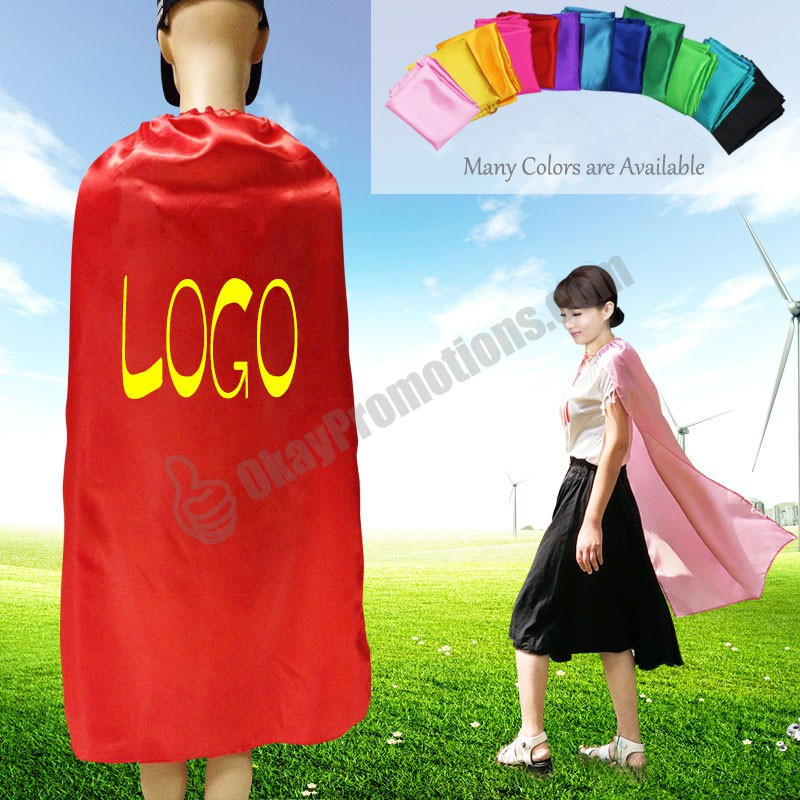 Many Colors Satin Customizable Superhero Promotional Advertising Cloaks Personalized Logo Capes - Padres Promotional Tickets